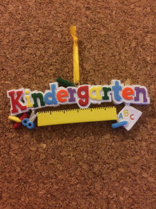 Kindergarten // First Day of School // Personalized Christmas Ornament