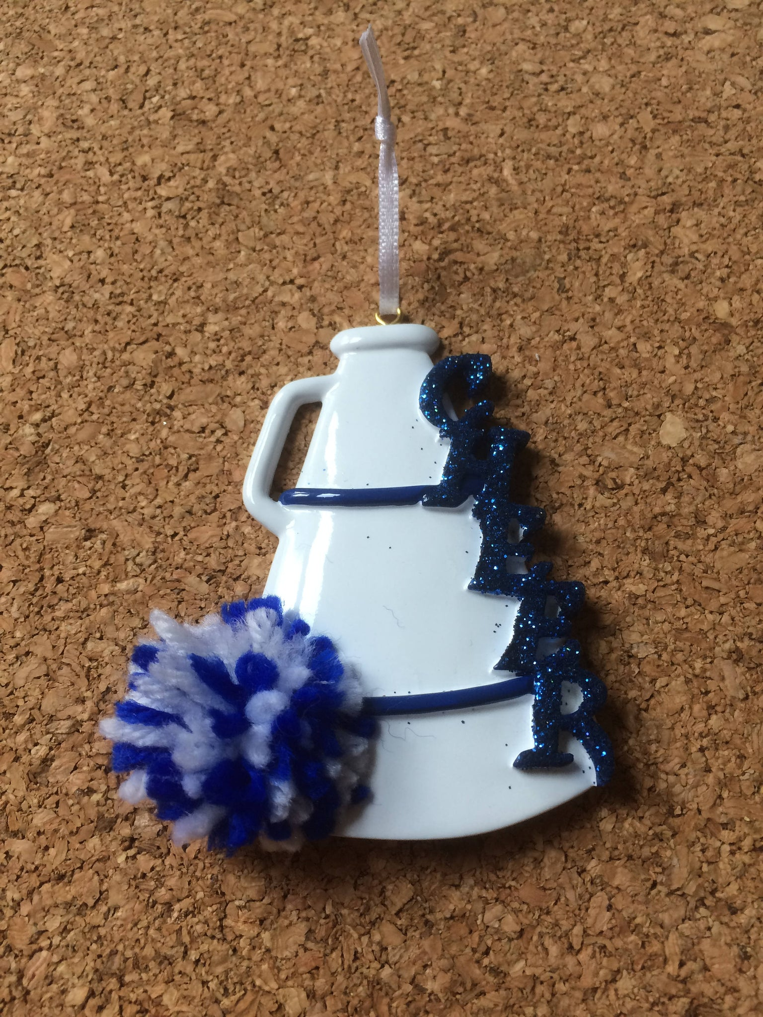 Cheer Megaphone Personalized Cheerleading Ornament