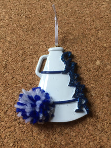 Cheer Megaphone Personalized Cheerleading Christmas Ornament