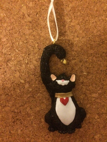 Cat with Bell Personalized Pet Christmas Ornament