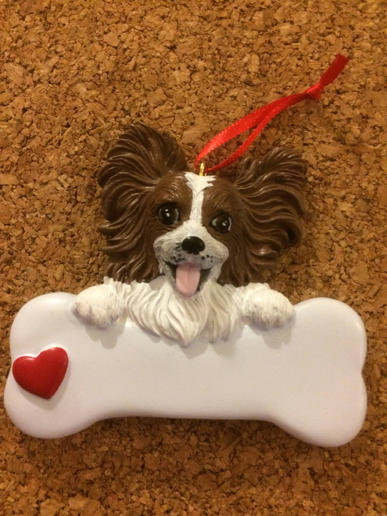 Papillon Dog Bone Personalized Dog/Pet Ornament