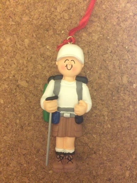 Hiking Man/Woman Personalized Ornament