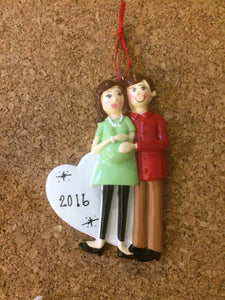Expecting Couple Personalized Baby Ornament