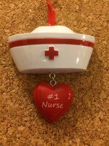 Number 1 Nurse's Cap Personalized Ornament