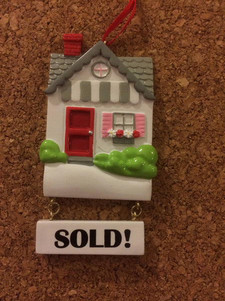 New Home // First Home // SOLD Personalized Christmas Ornament