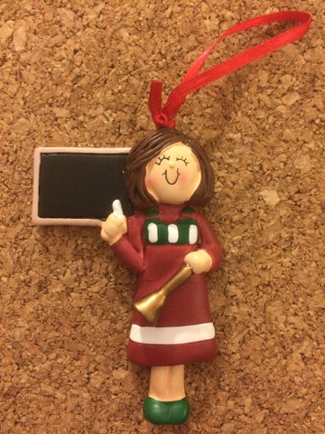 Teacher Personalized Occupation Christmas Ornament