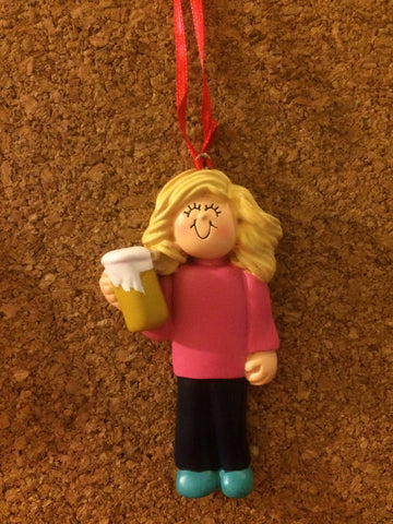 Beer 21 Personalized Christmas Ornament