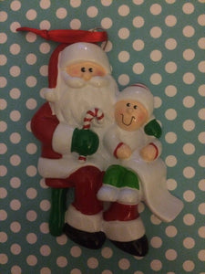 Santa Visit Memorable Personalized Chrismtas Ornament