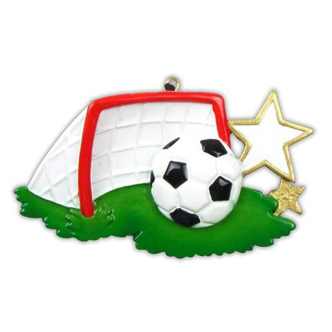 Soccer Goal Personalized Christmas Ornament