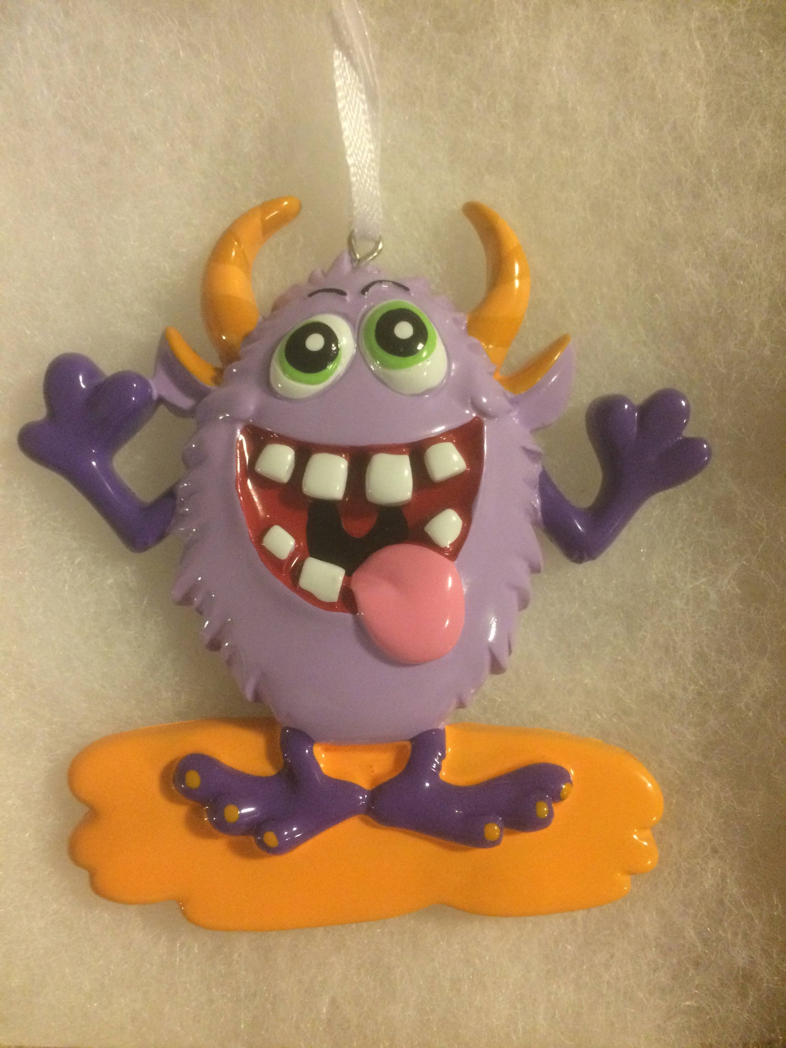 Monster Personalized Kids Christmas Ornament