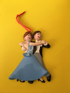 Ballroom Dancing Personalized Christmas Ornament