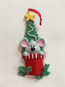 Christmas Mouse Personalized Christmas Ornament