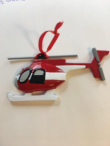 Helicopter Personalized Christmas Ornament