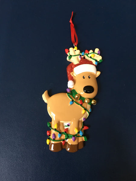 Christmas Reindeer Personalized Christmas Ornament