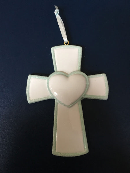 Memorial Cross Personalized Christmas Ornament