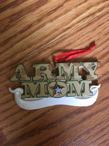 Army Mom Personalized Army Christmas Ornament