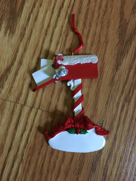 Christmas Mail Box // Letters To Santa Personalized Christmas Ornament
