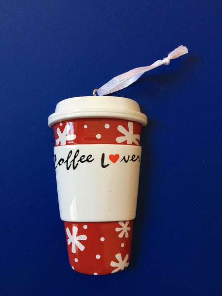 Coffee Lover Travel Cup Personalized Christmas Ornament7