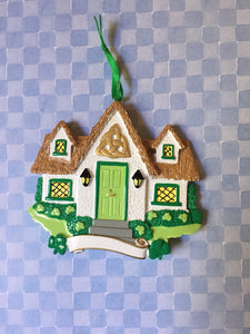 Irish Home New Home Personalized Christmas Ornament