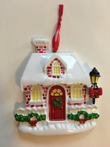 Red Cottage Personalized Christmas Home Ornament