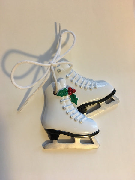 Figure Skates Personalized Ice Skating Christmas Ornament