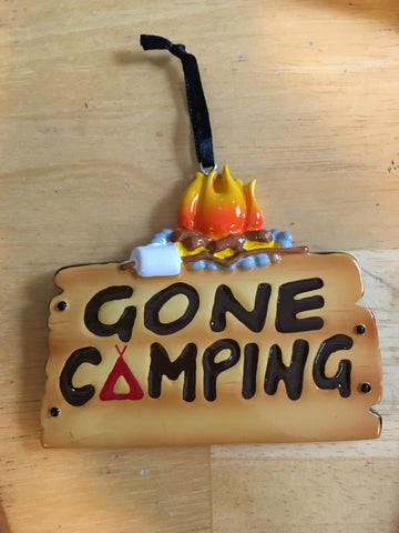 Gone Camping Personalized Camp Christmas Ornament