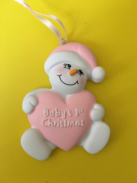 Baby's First Christmas // Snow Baby // Personalized Christmas Ornament