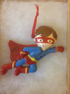 Super Hero Personalized Chrismtas Ornament