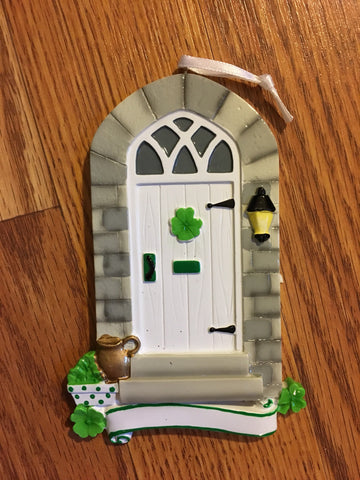 Irish Front Door Personalized Christmas Ornament