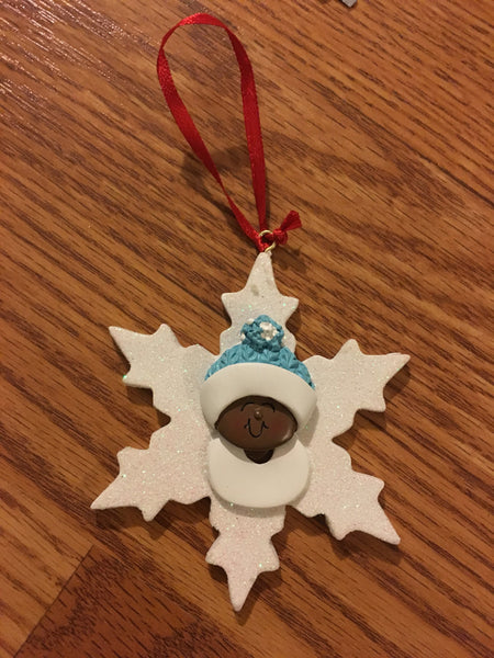 Snowflake Baby Personalized Ornament