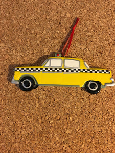 Personalized Yellow Taxi Cab Christmas Orament/Cake Topper