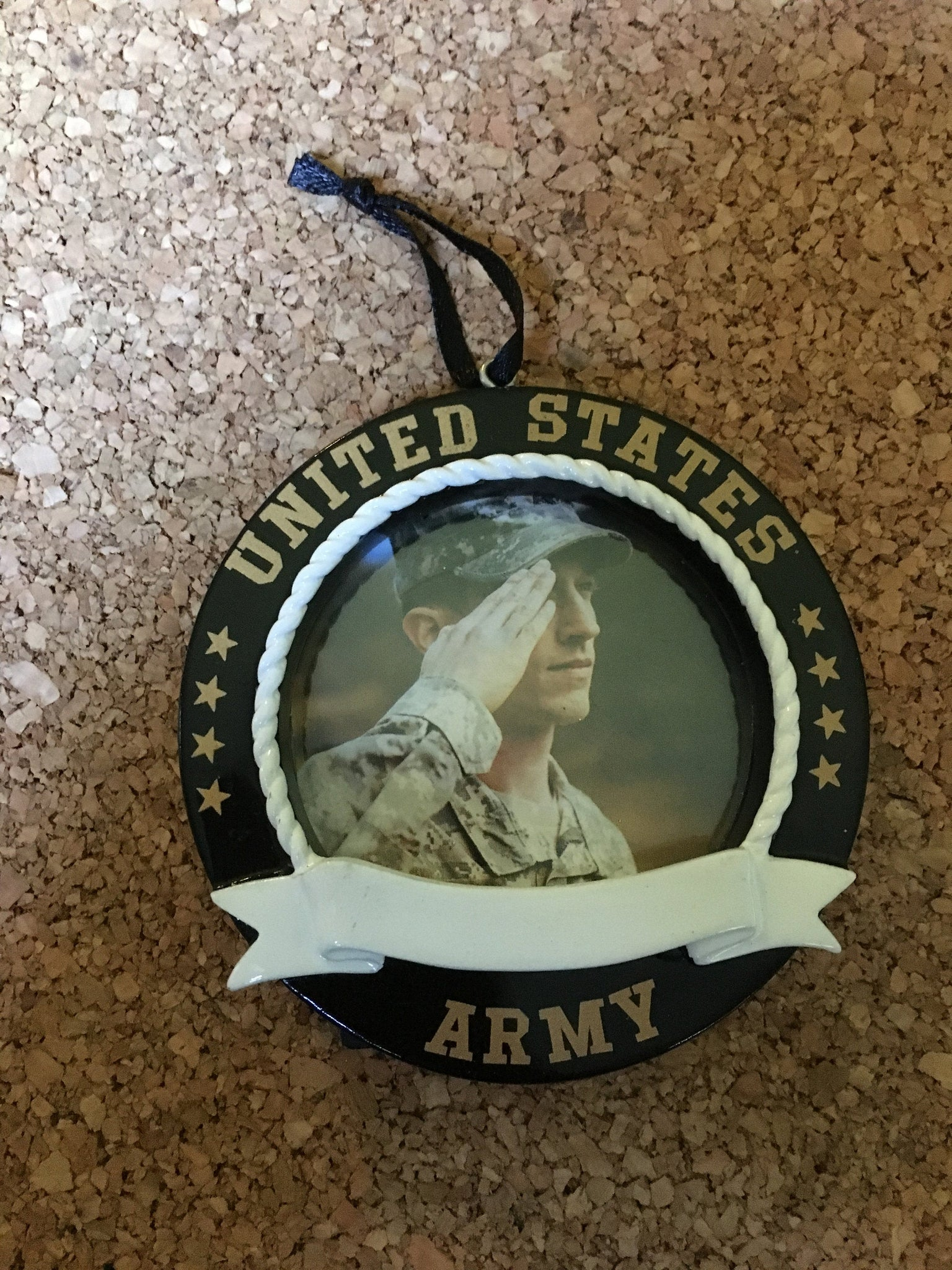 United States Army Picture Frame// Personalized Christmas Ornament