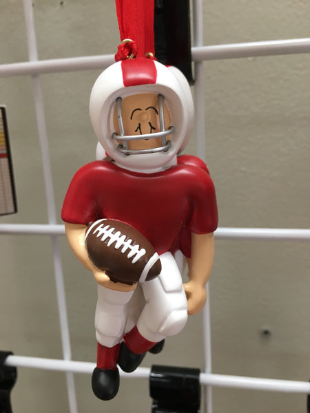 Football Player Personalized Christmas Ornament Sports Fan