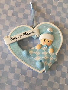 Baby's 1st Christmas // Heart Ornament // Personalized Christmas Ornament