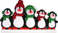 Penguin Family Personalized Christmas Ornament