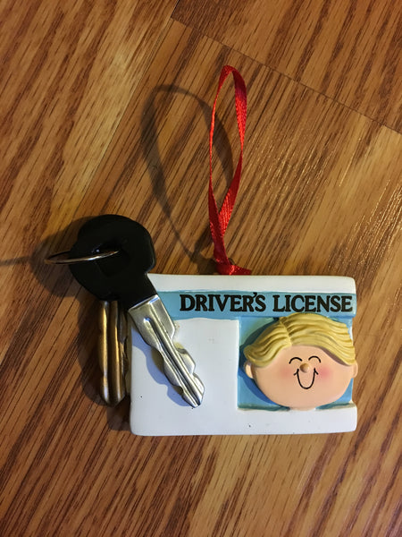 Driver's License Personalized Christmas Ornament