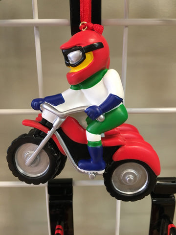Dirt Bike Personalized Christmas Ornament
