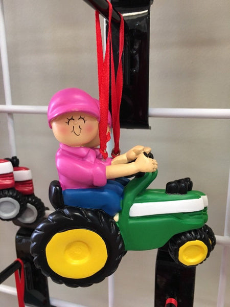 Tractor Boy/Girl Personalized Christmas Ornament