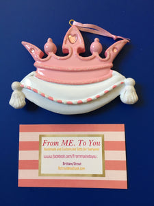 Princess Crown Personalized Ornament