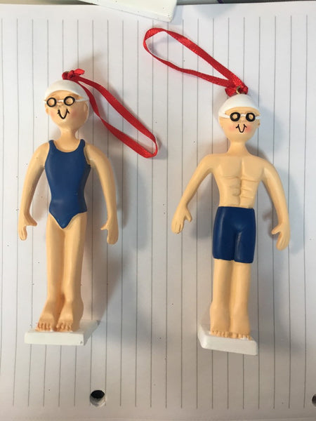 Swimmer Personalized Sports Ornament