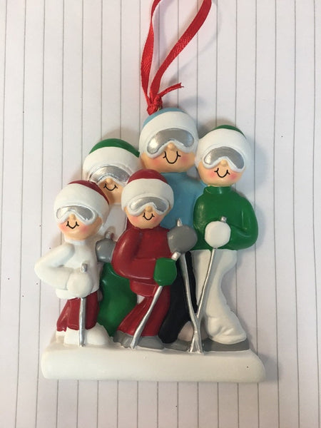 Skiing Couple // Family Personalized Christmas Ornament