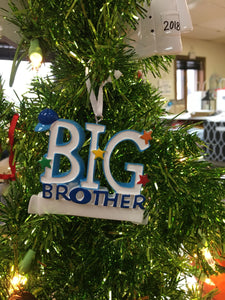 Big Brother/Big Sister Personalized Family Ornament