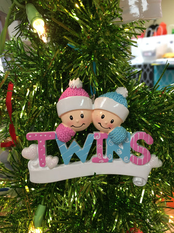 Twins-Baby Peraonalized Christmas Ornament