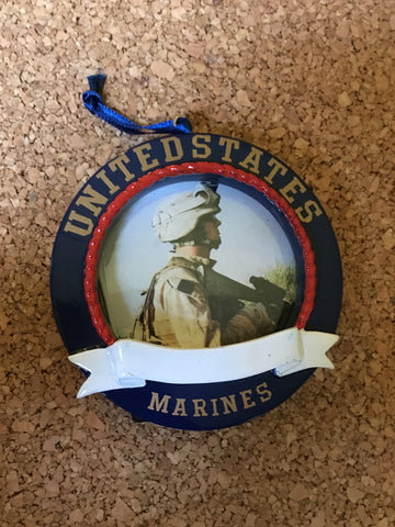 United States Marines Personalized Picture Frame Ornament