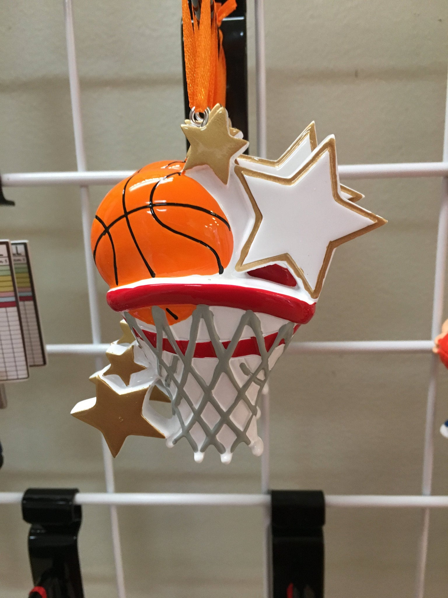 Basketball Hoop Personalized Christmas Ornament