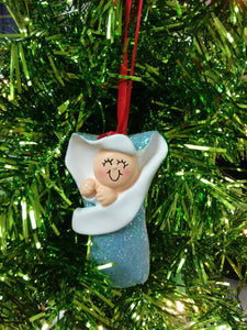 Baby's First Christmas // Baby Bunting // Personalized Christmas Ornament