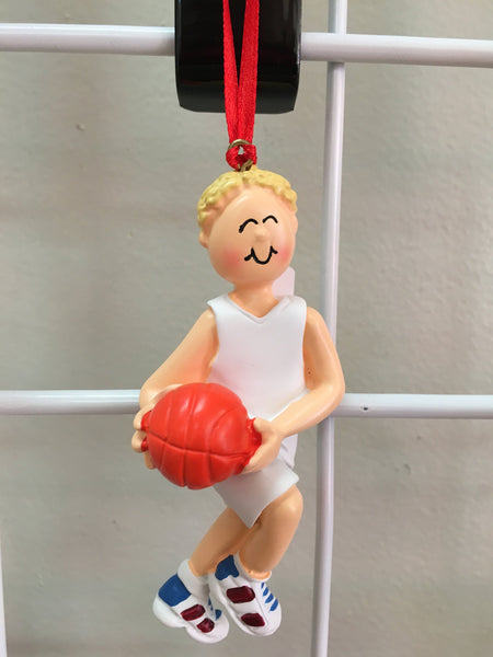 Basketball Player Personalized Christmas Ornament