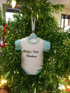 Baby's First Christmas Onesie // Baby 1st Christmas T Shirt - Personalized Ornament