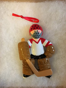 Hockey Goalie Personalized Christmas Sports Ornament