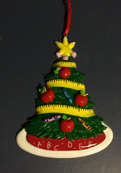Teacher's Christmas Tree Personalize Ornament